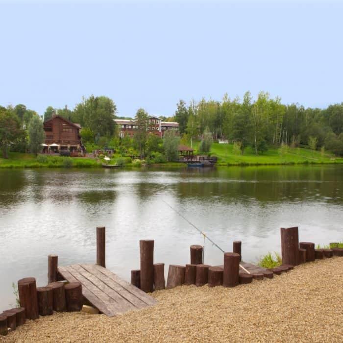 Рыбалка в загородном отеле ГРУМАНТ Resort & SPA, недалеко от Москвы, Тульская область