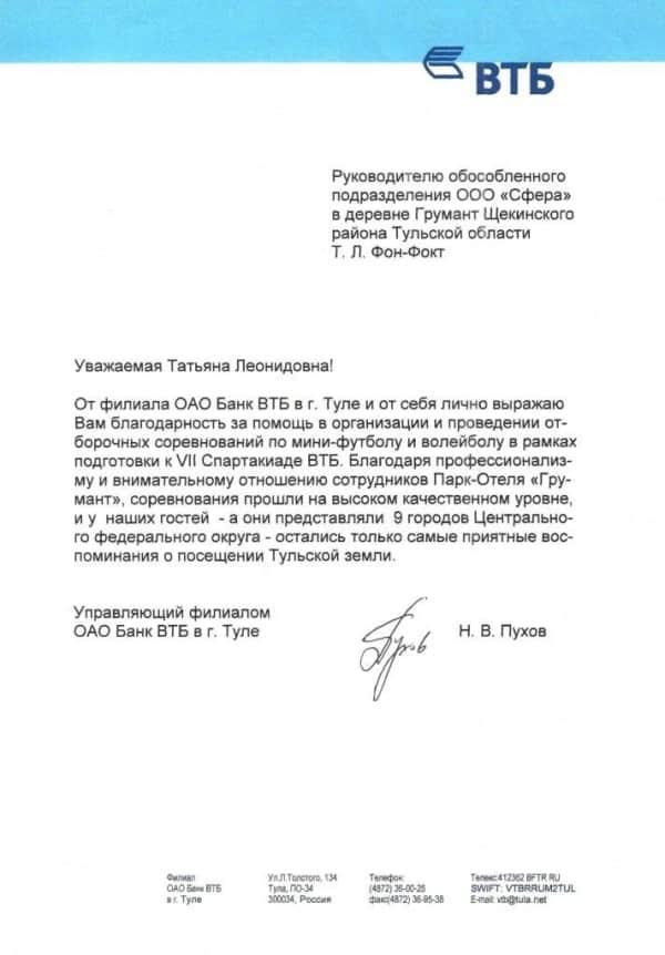 ОАО Банк ВТБ
