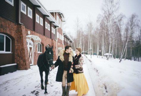 Зимняя свадьба в загородном отеле ГРУМАНТ Resort & SPA, недалеко от Москвы, Тула, д. Грумант